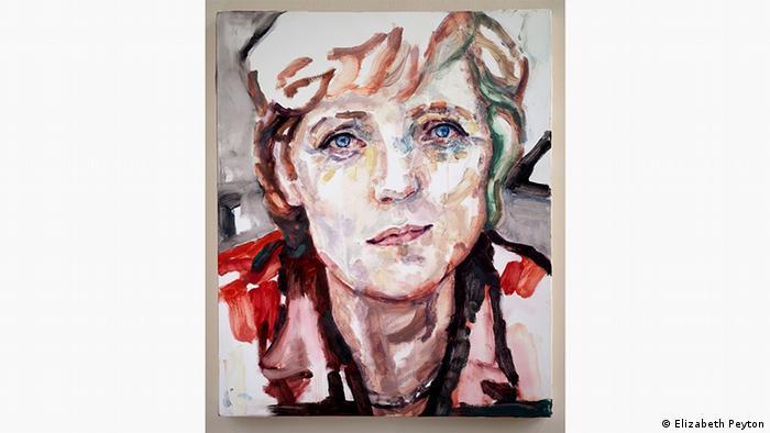 Портрет Меркель кисти Элизабет Пейтон