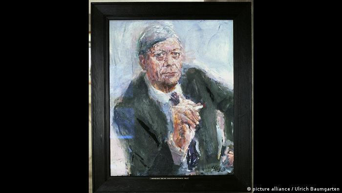 Pintura de Helmut Schmidt por Bernhard Heisig