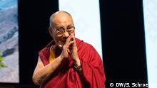 13.09.2017+++ Besuch des Dalai Lama in Frankfurt am Main. Rede in der Jahrhunderthalle. Foto: DW/Sandro Schroeder