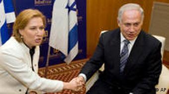 نتانیاهو و لیونی در آغاز گفتوگوهای جدید خود