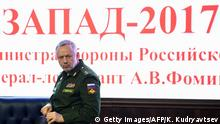 Russland Weißrussland PK zu Sapad 2017 Militärmanöver Alexander Fomin