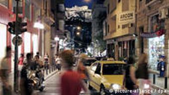 street scene in Athens