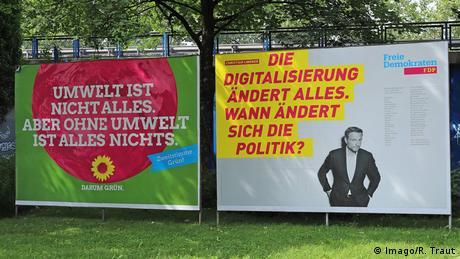 Bundestagswahlkampf 2017 Wahlplakate Grüne und FDP