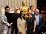 Jochen Alexander Freydank zusammen mit den anderen nominierten Kurzfilmern (Quelle: AP)