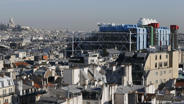 Frankreich Centre Pompidou Paris von Renzo Piano (Getty Images/AFP/P. Kovarik)