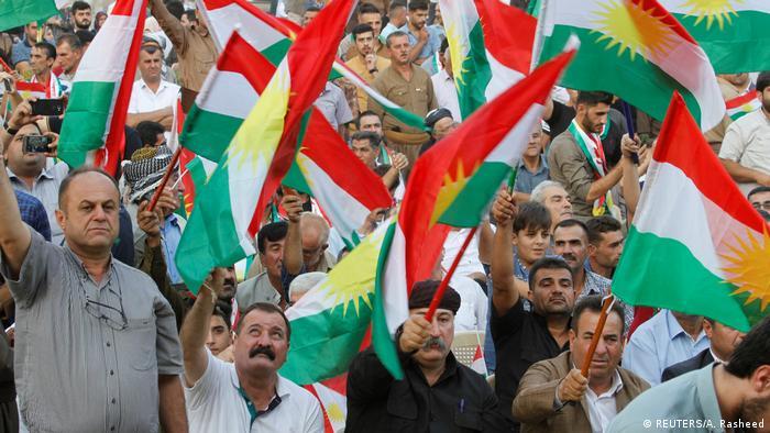 Irak   kurdische Unterstützer des Unabhänigkeitsreferendums in Kirkuk (REUTERS/A. Rasheed)