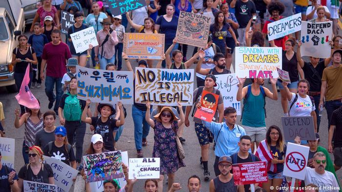 ABD Başkanı Trump'ın DACA'ya son verme planı protesto edilmişti.