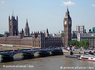 Набережная Темзы в Лондоне