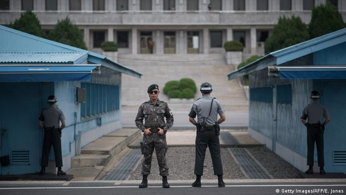 Grenze zwischen Süd- und Nordkorea (Getty Images/AFP/E. Jones)