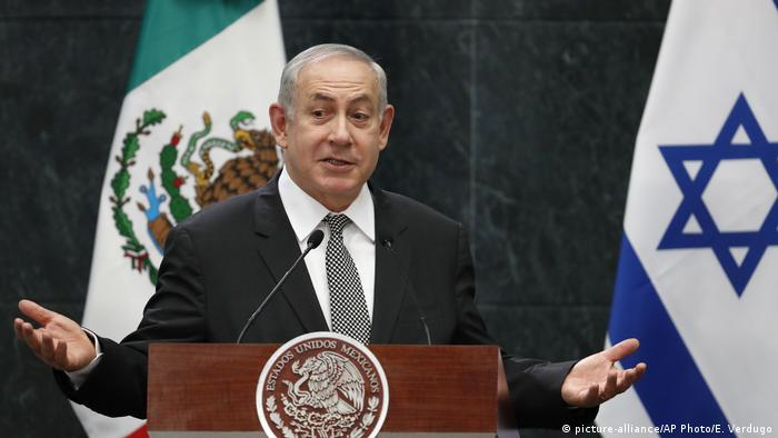 Mexiko Benjamin Netanjahu in Mexiko Stadt (picture-alliance/AP Photo/E. Verdugo)