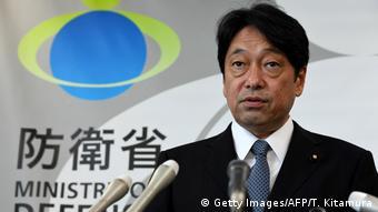 Japan Verteidigungsminister Itsunori Onodera Reaktion auf Nordkorea Raketenabschuss (Getty Images/AFP/T. Kitamura)