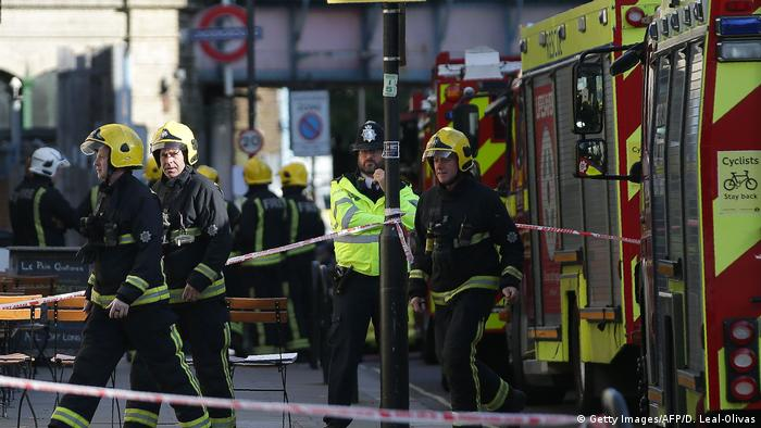 London Explosion in Underground (Getty Images/AFP/D. Leal-Olivas)