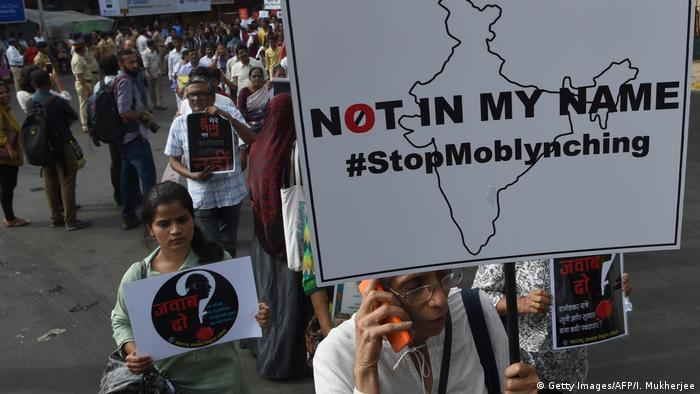 Indien Proteste gegen Gewalt an Muslime (Getty Images/AFP/I. Mukherjee)