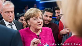 ZDF-Sendung Klartext, Frau Merkel! Syrischer Flüchtling: Ich liebe Sie!