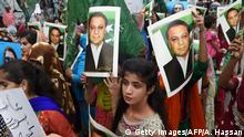 Supporters of former Pakistani PM Nawaz Sharif (Getty Images/AFP/A. Hassan)
