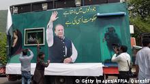 Pakistan Anhänger des Ex-Premierministers Nawaz Sharif