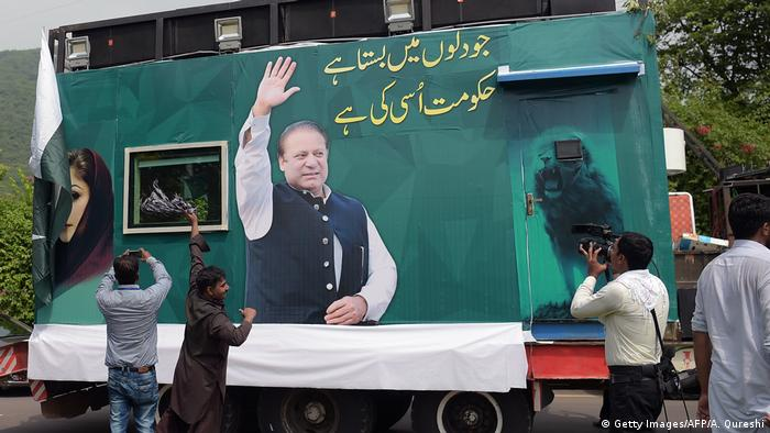 Former PM Sharif is vigorously campaigning for upcoming elections