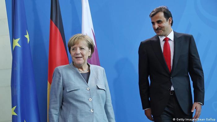 Berlin Merkel empfängt Emir von Katar