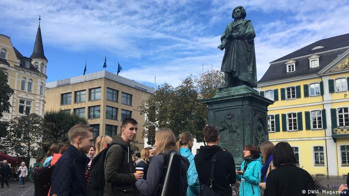 Estatua de Beethoven en el centro de Bonn.