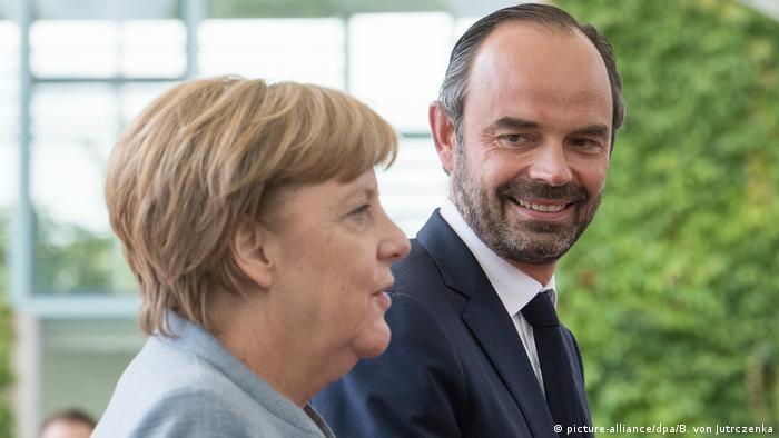 Berlin Französischer Premierminister Philippe bei Merkel (picture-alliance/dpa/B. von Jutrczenka)