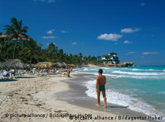 Strand am Hotel Sol Melia Las Americas mit Du Pont Villa auf Varadero, Matanzas, Kuba