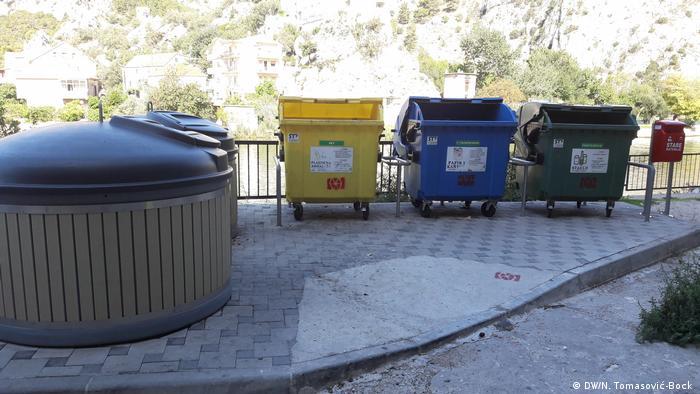 Kroatien Müll & Mülltrennung | Mülltonnen in Omiš