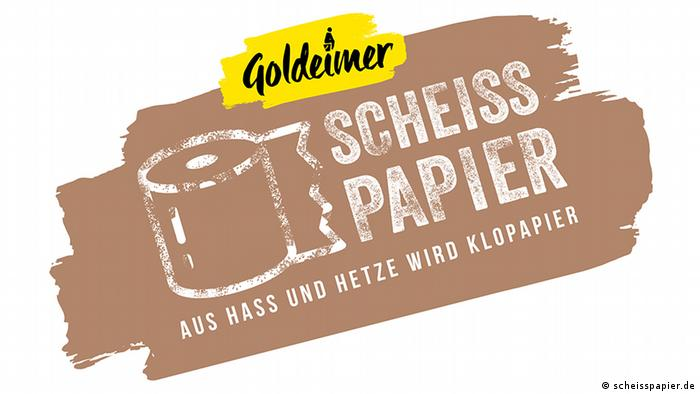 S**t paper from hate and hurt comes toilet paper (scheisspapier.de)