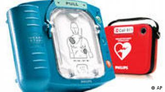 In this undated photo provided by Philips Healthcare, a HeartStart Home Defibrillator is shown. Having a defibrillator at home can help a heart attack survivor live through a second crisis, but so can CPR and at a much lower cost. Those are the findings from the first test of using these heart-shocking devices in the home. (AP Photo/Philips Medical Systems) ** NO SALES **