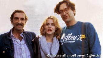 Harry Dean Stanton, Nastassia Kinski und Regisseur Wim Wenders 1984