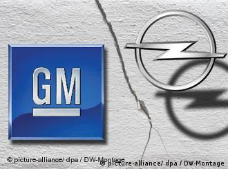 GM and Opel logos