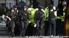 London nach Anschlag auch U-Bahn Station Parsons Green
