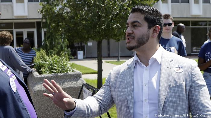 USA Dr. Abdul El-Sayed in Detroit (picture-alliance/AP Photo/C. Osorio)