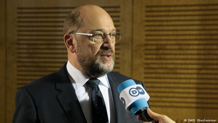 Martin Schulz, líder do Partido Social-Democrata (SPD) e principal rival de Merkel