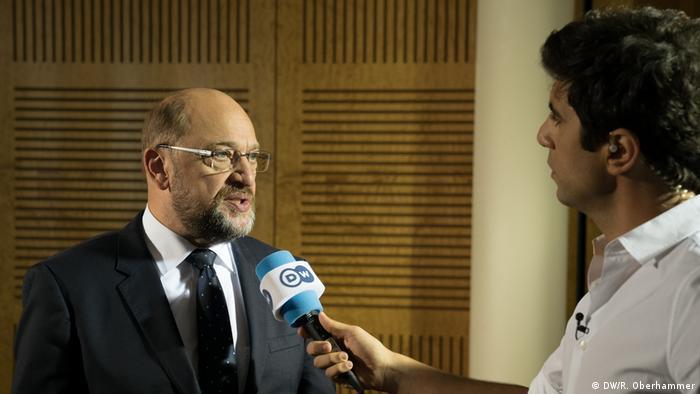 Deutschland wählt DW Interview mit Martin Schulz (DW/R. Oberhammer)