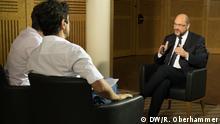 16.09.2017 DW Interview mit Martin Schulz, SPD. Geführt von DW Chefredakteurin, Ines Pohl und DW-Reporter, Jaafar Abdul Karim.