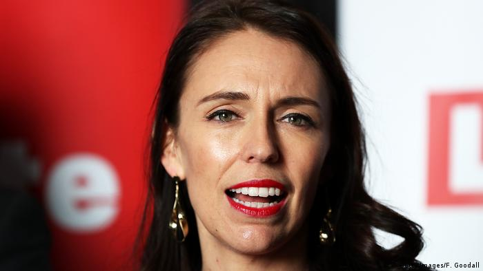 Closeup of New Zealand Labour candidate Jacinda Ardern (Getty Images/F. Goodall)