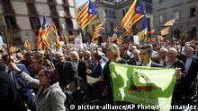 Spanien katalanische Bürgermeister für Unabhängikeitsreferendum