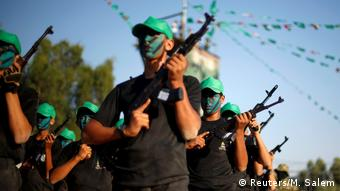 Hamas fighters in Gaza