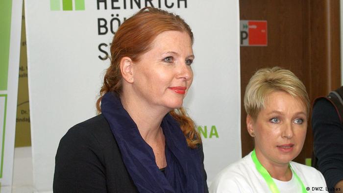 Bosnien und Herzegowina Visoko - Green Busness Fair: Marion Kraske, Direktorin der Heinrich Böll Stiftung (DW/Z. Ljubas)