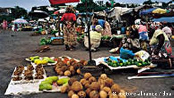 Market day on Mayotte