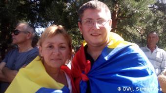 Гражданские активисты Галина Перейра и Александр Македон