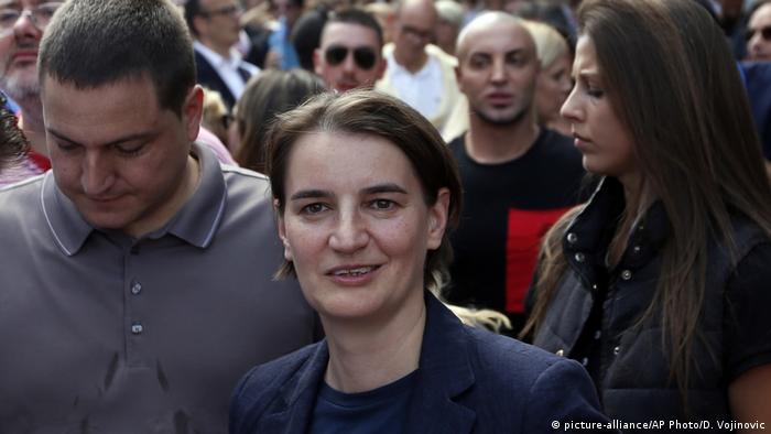 Premijerka Srbije Ana Brnabić na Paradi ponosa u Beogradu 2017.