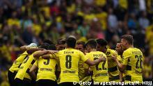 August 26, 2017*** DORTMUND, GERMANY - AUGUST 26: Team of Dortmund huddle prior the Bundesliga match between Borussia Dortmund and Hertha BSC at Signal Iduna Park on August 26, 2017 in Dortmund, Germany. (Photo by Maja Hitij/Bongarts/Getty Images)