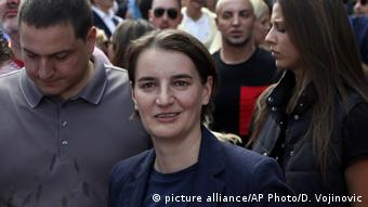 Serbien Ana Brnabic (picture alliance/AP Photo/D. Vojinovic)