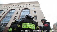 Russland Moskau - Evakuierung nach Bombendrohung