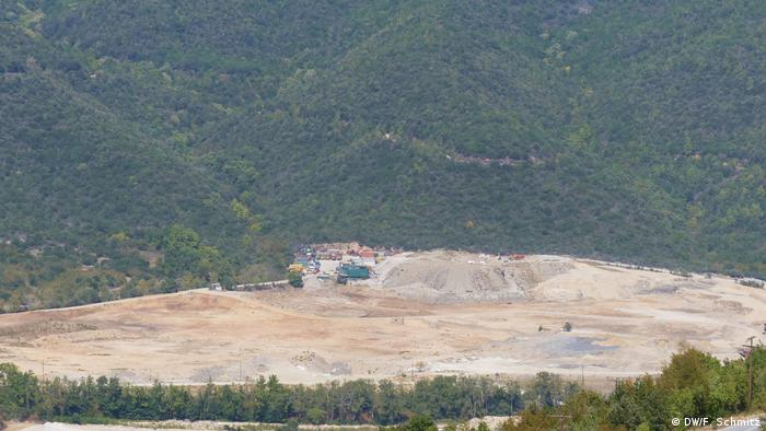 Hectars of forest have already been cleared for the mine in Olympiada