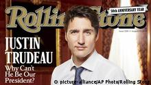 Cover des Rolling Stone mit Justin Trudeau