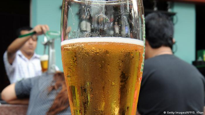 A glas of beer in a Kuala Lumpur bar