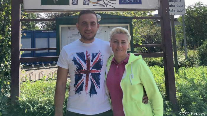 Alexey Kolyasnikov with wife