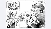 جرمن انتخابات، کارٹونِسٹ کی نظر میں